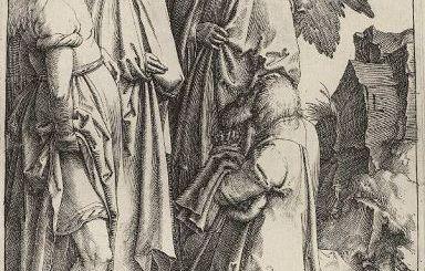 ο Αβραάμ και οι τρεις άγγελοι, έργο του Van Leyden Lucas
