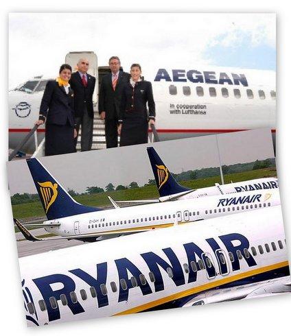 ΟΧΙ στο μονοπώλιο της Aegean και στους εκβιασμούς της RyanAir – ΝΑΙ στον εθνικό αερομεταφορέα