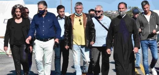 Αυτοψία από τον Γιώργο Τράγκα και κλιμακίου του ΚΕΛΑΝ στο Αρκαλοχώρι – Περιοδεία στην Κρήτη