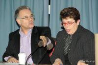 ο δήμαρχος Δημήτρης Κουνενάκης και η πρόεδρος του Δημ. Συμβουλίου Σοφία Γιαννικάκη