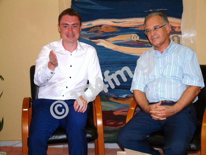 ο πρωθυπουργός της Εσθονίας με τον δήμαρχο Αγίου Νικολάου