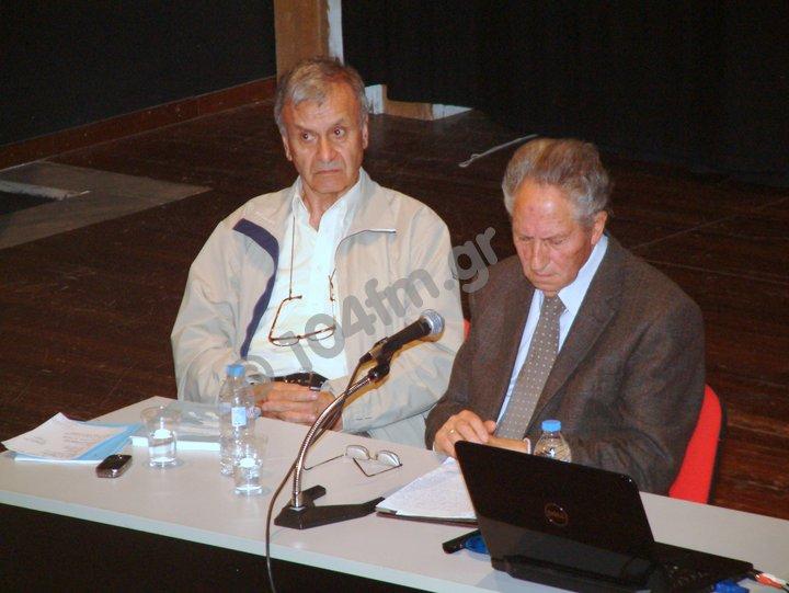 ο συγγραφέας Γιώργος Ζωγραφάκης με τον ιστορικό Γιώργο Παναγιωτάκη