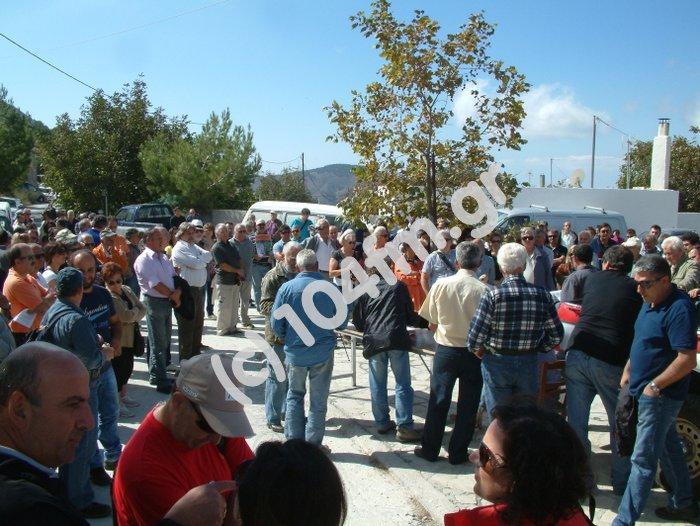 κόσμος από όλη τη περιοχή έσπευσε για να συμμετάσχει στην εκδήλωση