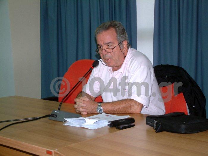 ο πρόεδρος του Δημοτικού Συμβουλίου Αγίου Νικολάου, Γιώργος Καλογεράκης