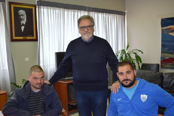 Με τον Μανώλη Στεφανουδάκη συναντήθηκε ο δήμαρχος Αγίου Νικολάου