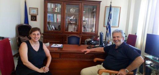 Εθιμοτυπική επίσκεψη Ζερβάκη στην Αντιπεριφερειάρχη Λασιθίου