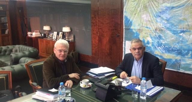 Συνάντηση Μανόλη Θραψανιώτη με Νίκο Τόσκα