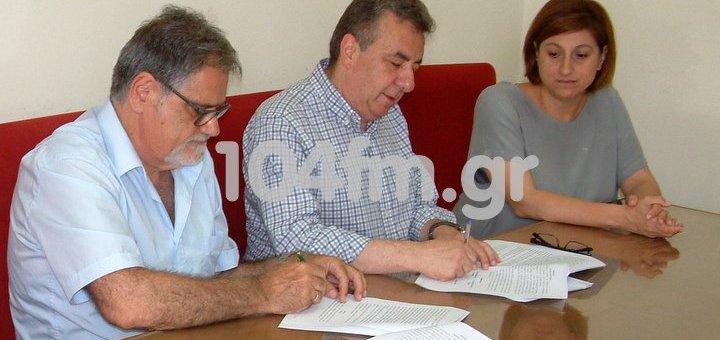 Υπογραφή σύμβασης για παράκαμψη Ελούντας