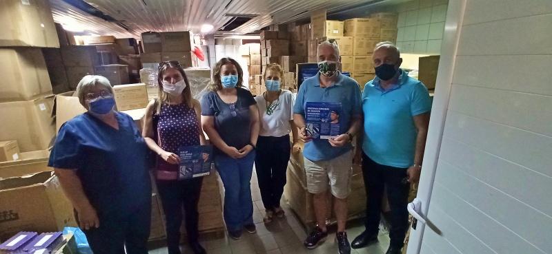 Προσωπίδες ασφαλείας covid 19 από CRM Αριάδνη στο νοσοκομείο Αγίου Νικολάου