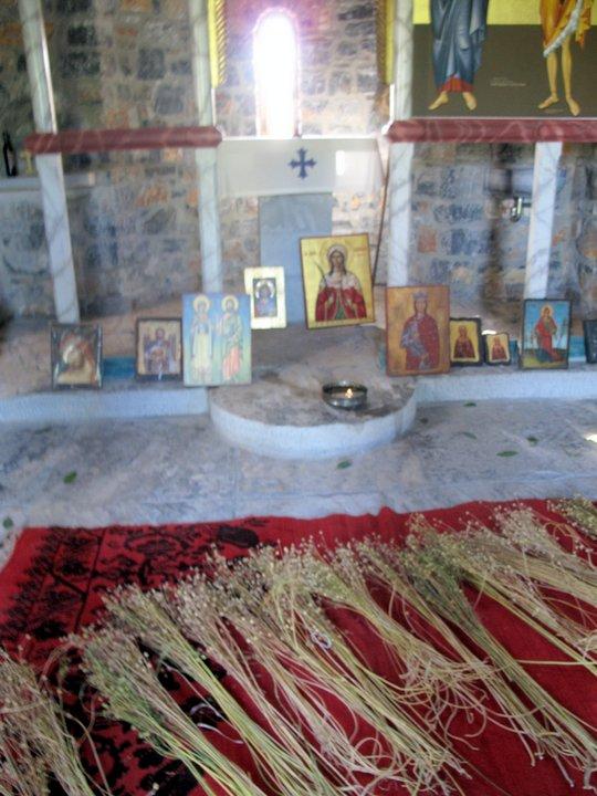 το λινάρι μπροστά από το ιερό