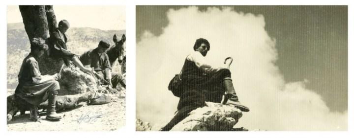 εικ.7,8: Οι βοσκοί στ' Αόρι, 1937 και 1950. Ανεπανάληπτες καταγραφές με βάθος πεδίου και νοήματος (από τις προσωπικές συλλογές Μαν.Π.Σγουρού και Νίκου Ι. Κουτουλάκη αντίστοιχα).