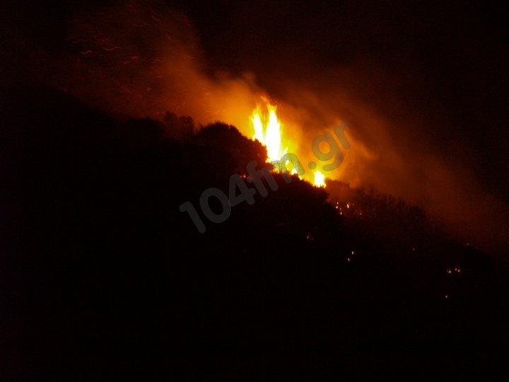 Φωτιά στο Καστέλι Φουρνής