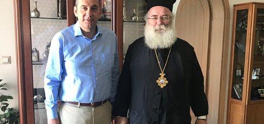 Επίσκεψη Πλακιωτάκη στον Μητροπολίτη Ιεραπύτνης και Σητείας