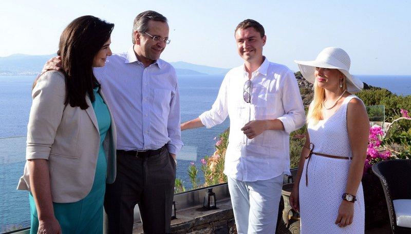 από τη συνάντηση των πρωθυπουργών της Ελλάδας, Αντώνη Σαμαρά και Εσθονίας, Τάαβι Ρούιβας, στο Καλό Χωριό, Λασιθίου (ΑΜΠΕ)