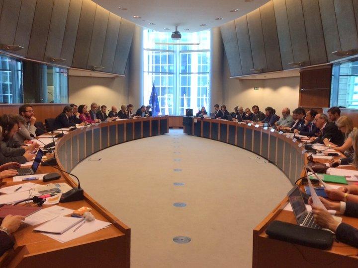 συνεδρίαση της Διακομματικής Ομάδας Ευρωβουλευτών «Θάλασσες, Ποταμοί, Νησιά και Παράκτιες Περιοχές» του Ευρωπαϊκού Κοινοβουλίου, στις Βρυξέλλες