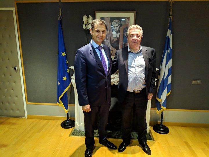 Ο Περιφερειάρχης Κρήτης στον Υπουργό Τουρισμού