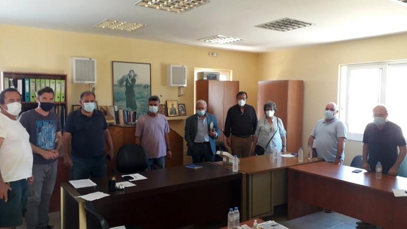Συνάντηση Θραψανιώτη, Ενιαίου Αγροτικού Συλλόγου Ιεράπετρας
