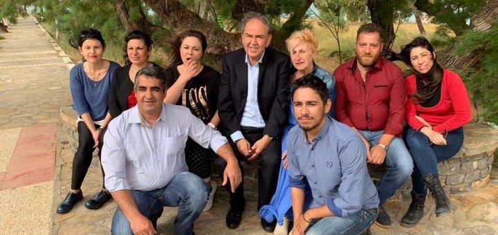 η ομάδα υποψηφίων στην Δημοτική Κοινότητα Ελούντας