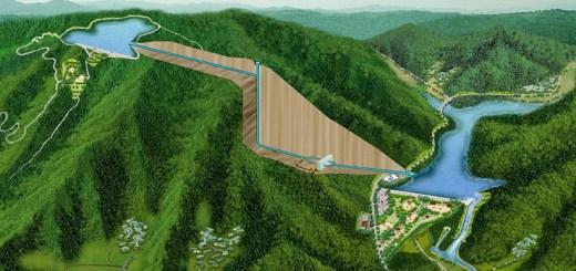 υδροηλεκτρικό σε σχέδιο