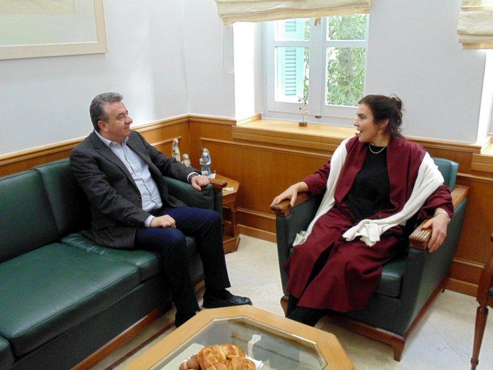 Η υπουργός πολιτισμού στη Περιφέρεια Κρήτης