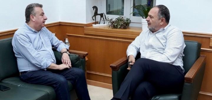 Συνάντηση Περιφερειάρχη Κρήτης με το νέο πρόεδρο της ΠΕΔ Κρήτης