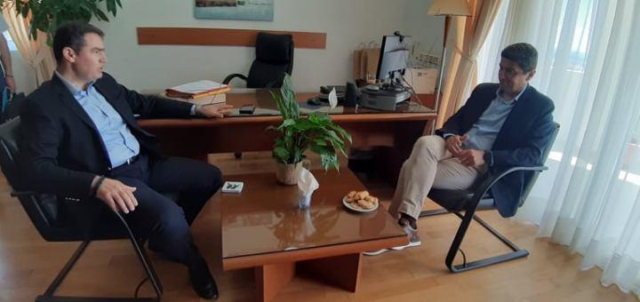 Ο Δήμαρχος Χερσονήσου με τον Υφυπουργό Αθλητισμού