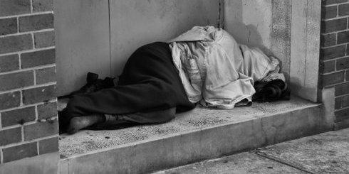 ένας άστεγος