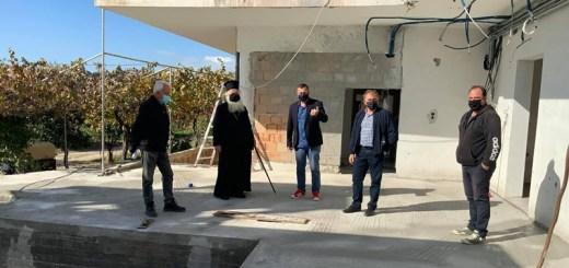 Επίσκεψή δημάρχου και μητροπολίτη στο υπό κατασκευή γηροκομείο Ιεράπετρας