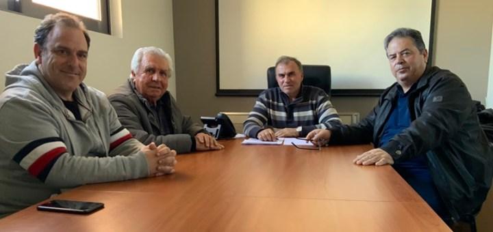 Συνάντηση του δημάρχου με τον πρόεδρο και τον διευθυντή του ΤΟΕΒ Ιεράπετρας