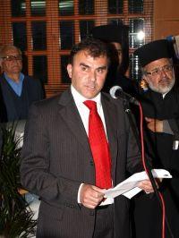 ο Δήμαρχος Θεοδόσης Καλαντζάκης, κατά τον χαιρετισμό του