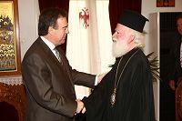 Με τον Αρχιεπίσκοπο Ειρηναίο