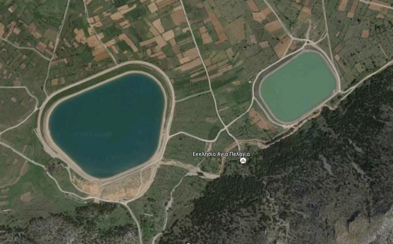 οι λιμνοδεξαμενές στο οροπέδιο Λασιθίου