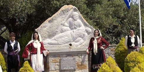 το μνημείο μετά τα αποκαλυπτήρια