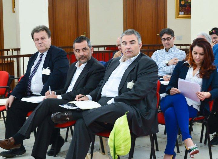 ο Δήμαρχος Οροπεδίου  Γιάννης Στεφανάκης και ο υπεύθυνος Τουρισμού Μιχάλη Βαμιεδάκης