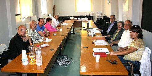 από τη σύσκεψη για Μερκούρη - Καζαντζάκη, στη Νομαρχία Λασιθίου