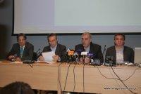από αριστερά, Σηφουνάκης, Μαγκριώτης, Ρέππας, Αρναουτάκης στη συνέντευξη τύπου