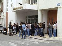 Οι φοιτητές στο Δημαρχείο