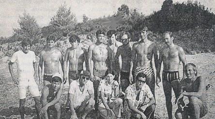 αναμνηστική των κολυμβητών