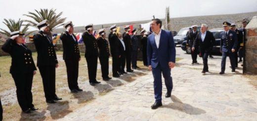 Τη ναυτική βάση στο Κιριαμάδι επισκέφτηκε ο πρωθυπουργός