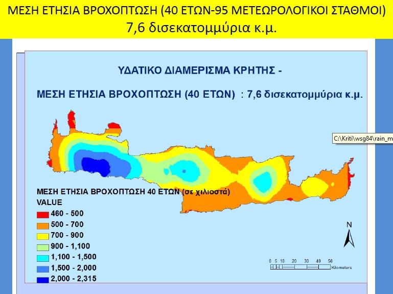 Συγκριτικά στοιχεία βροχοπτώσεων, προτεινόμενα μέτρα