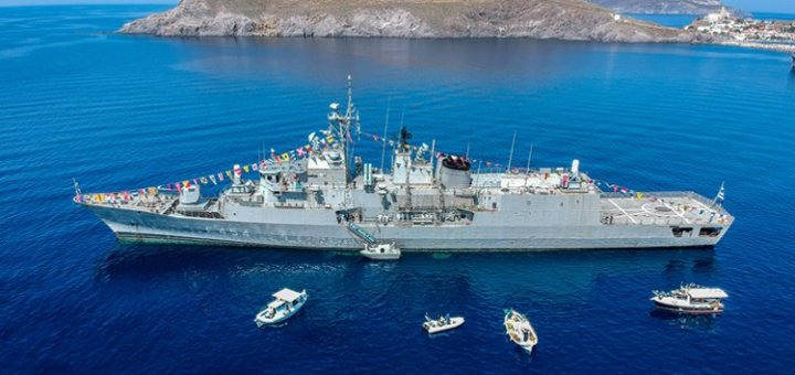 Μέγα το της θαλάσσης κράτος, πλοίο του πολεμικού ναυτικού στη Σητεία