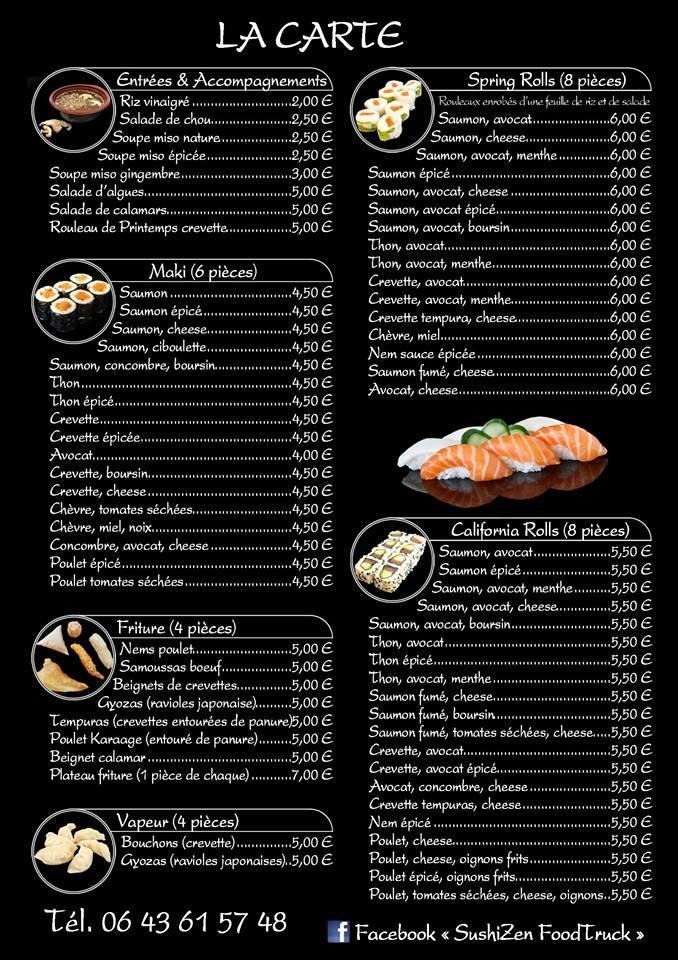 sushizen foodtruck restaurant andernos