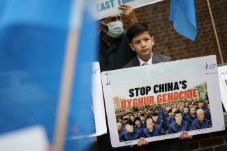 Rally At UK Embassy In DC To Support Of Condemnation Of China For Uyghur Abuses