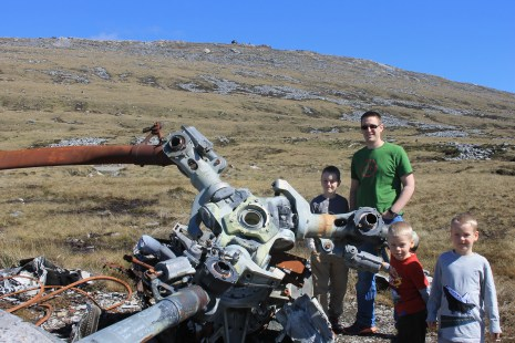 Wreckage and boys