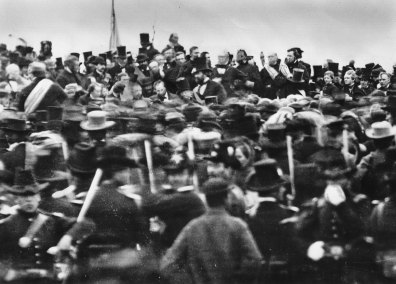 dedication-ceremony-People-cemetery-Gettysburg-Pennsylvania-Battlefield-November-1863