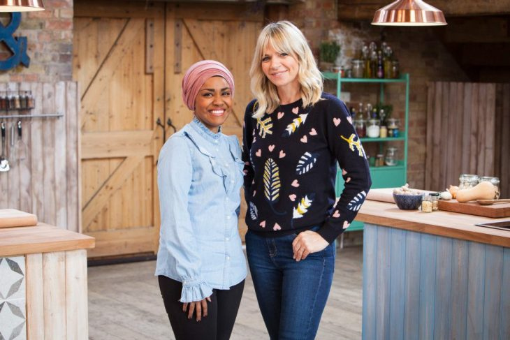 Nadiya Hussain with Zoe Ball