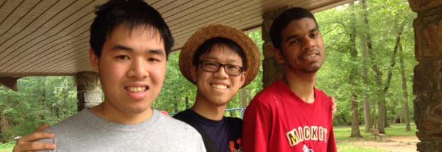 boys at a SEPTA picnic