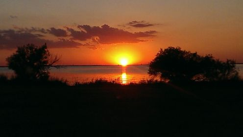 Lake Hefner Sunset in OKC