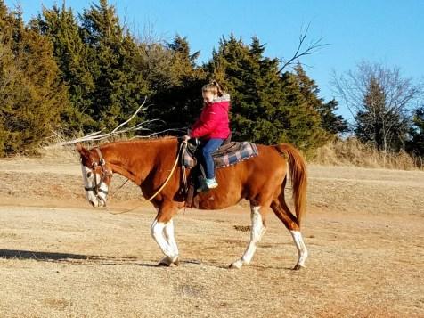 First horse ride at Draper Lake