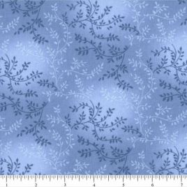 108″ Medium Light Blue Leaves